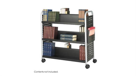 Book & Library Carts Safco Office Furniture Double-Sided Book Cart