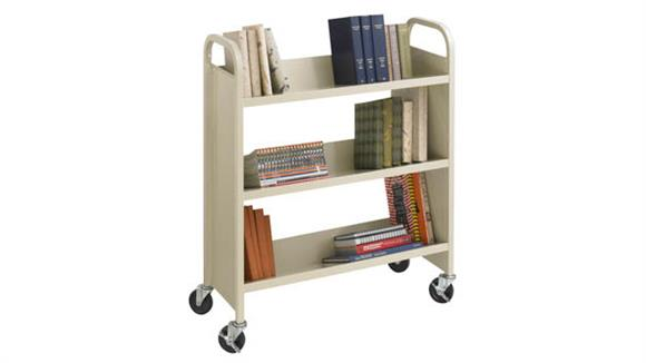 Book & Library Carts Safco Office Furniture Steel Single-Sided Book Cart
