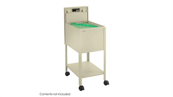 Mobile File Cabinets Safco Office Furniture Standard Mobile Tub File with Lock, Letter Size