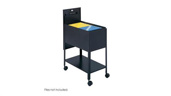 Mobile File Cabinets Safco Office Furniture Extra Deep Mobile Tub File with Lock, Letter Size