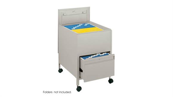 Mobile File Cabinets Safco Office Furniture Locking Mobile Tub File with Drawer, Legal Size