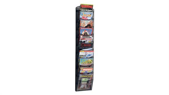 Magazine & Literature Storage Safco Office Furniture 10-Pocket Onyx™ Magazine Rack