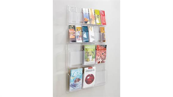 Magazine & Literature Storage Safco Office Furniture 6 Magazine and 12 Pamphlet Display