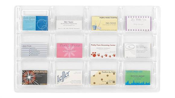 Magazine & Literature Storage Safco Office Furniture 12 Business Card Display