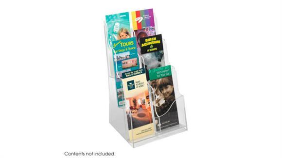 Magazine & Literature Storage Safco Office Furniture Acrylic 3 Pocket Magazine Display
