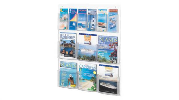 Magazine & Literature Storage Safco Office Furniture 6 Magazine and 6 Pamphlet Display
