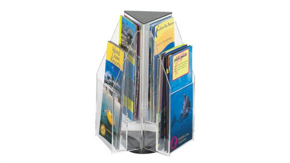 Magazine & Literature Storage Safco Office Furniture 6 Pamphlet Triangle Table Top Display