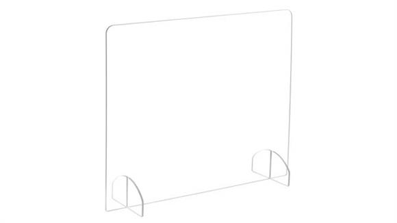 Covid19 Office Sneeze Guards Safco Office Furniture Portable Freestanding All-Acrylic Sneeze Guard