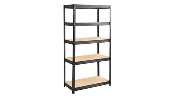 "Shelving Safco Office Furniture Boltless Steel and Particleboard Shelving 36"" x 18"""