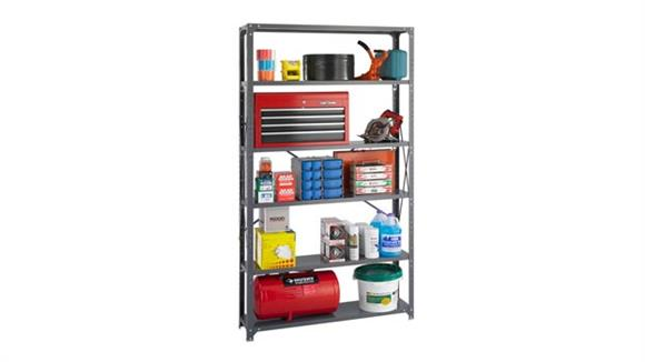 """Shelving Safco Office Furniture 48""""W x 12""""D x 85""""H Industrial Steel Shelving"""