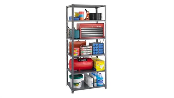 "Shelving Safco Office Furniture 36""W x 24""D x 85""H Industrial Steel Shelving"