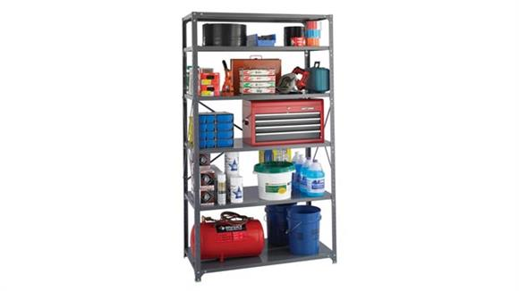 """Shelving Safco Office Furniture 48""""W x 24""""D x 85""""H Industrial Steel Shelving"""