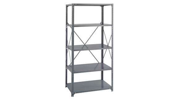 "Shelving Safco Office Furniture 36""W x 24""D x 75""H Commercial 5 Shelf Unit"