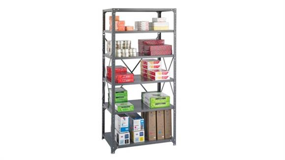 "Shelving Safco Office Furniture 36""W x 24""D x 75""H Commercial 6 Shelf Unit"