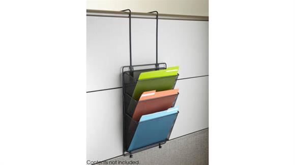 Desk Organizers Safco Office Furniture Onyx™ Panel Organizer Triple Basket