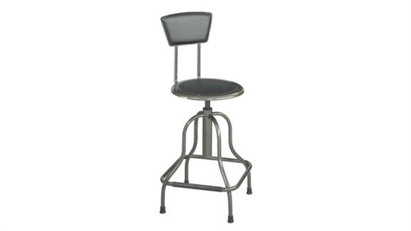 Drafting Stools Safco Office Furniture Diesel High Base Stool with Back
