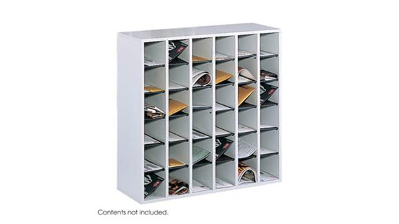 Mail Sorters Safco Office Furniture Wood 36 Compartment Mail Sorter