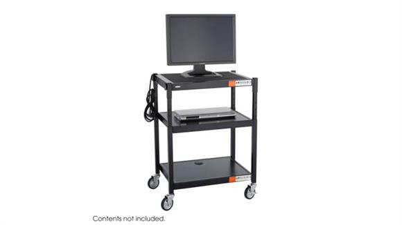 AV Carts Safco Office Furniture Steel Height Adjustable AV Cart