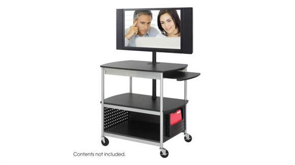 AV Carts Safco Office Furniture Open Flat Panel Multimedia Cart