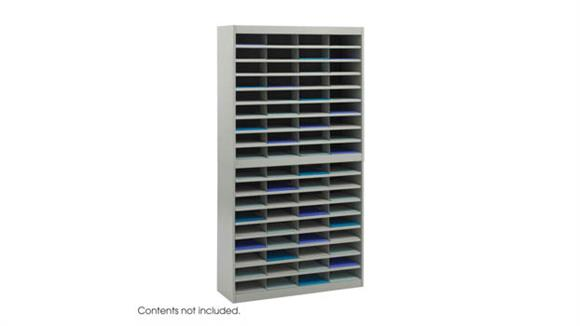 Magazine & Literature Storage Safco Office Furniture Steel 72 Compartment Letter Size Literature Organizer