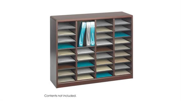 Magazine & Literature Storage Safco Office Furniture 36 Compartment Literature Organizer