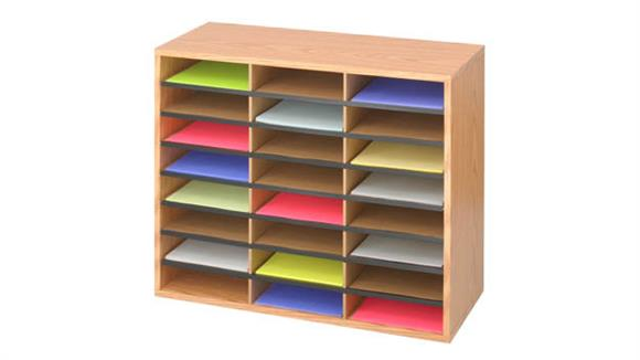 Magazine & Literature Storage Safco Office Furniture 24 Compartment Wood Literature Organizer