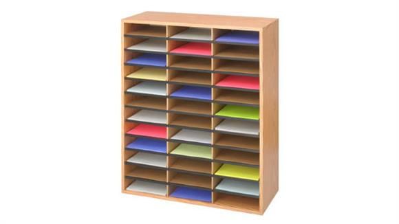 Magazine & Literature Storage Safco Office Furniture 36 Compartment Wood Literature Organizer