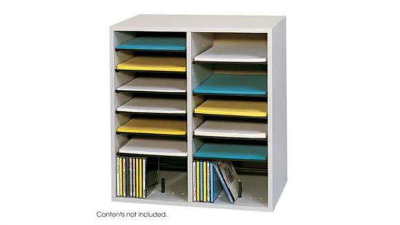 Magazine & Literature Storage Safco Office Furniture Wood 16 Compartment Literature Organizer