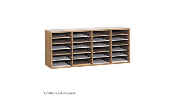 Magazine & Literature Storage Safco Office Furniture Wood 24 Compartment Literature Organizer
