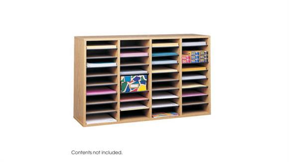 Magazine & Literature Storage Safco Office Furniture Wood 36 Compartment Literature Organizer