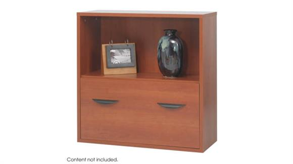 Storage Cabinets Safco Office Furniture Modular Storage Shelf with Lower