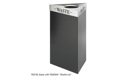 Waste Baskets Safco Office Furniture 17 Gallon Waste Receptacle