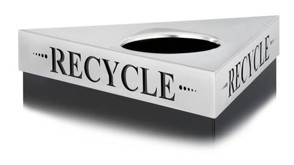 "Waste Baskets Safco Office Furniture ""Recycle"" Recycling Receptacle Lid"