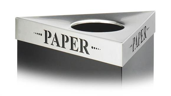 "Waste Baskets Safco Office Furniture ""Paper"" Recycling Receptacle Lid"