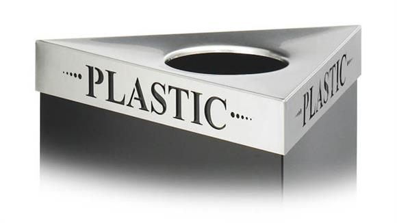 "Waste Baskets Safco Office Furniture ""Plastic"" Recycling Receptacle Lid"