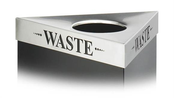 "Waste Baskets Safco Office Furniture ""Waste"" Recycling Receptacle Lid"