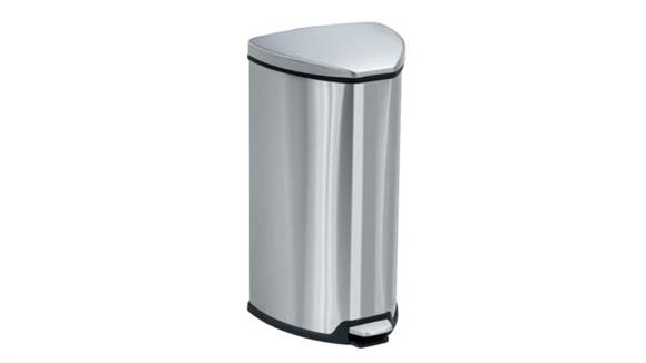 Waste Baskets Safco Office Furniture Stainless Step-On 7 Gallon Receptacle