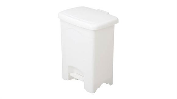 Waste Baskets Safco Office Furniture Plastic Step-On Receptacle, 4-Gallon