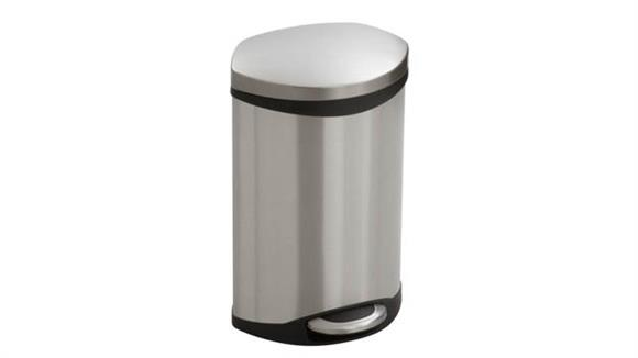Waste Baskets Safco Office Furniture Ellipse Step-On - 3 Gallon Receptacle