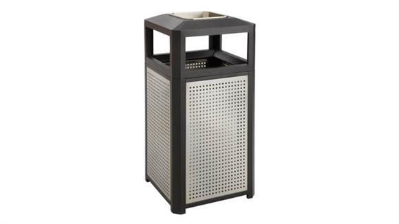Waste Baskets Safco Office Furniture Evos™ Series Steel Receptacle w/ Ash, 38 Gallon