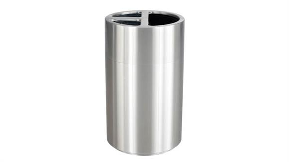 Waste Baskets Safco Office Furniture Triple Recycling Receptacle