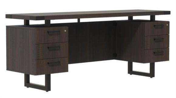 "Office Credenzas Safco Office Furniture 72""W x 20""D Credenza, BBB/BBB Pedestals"