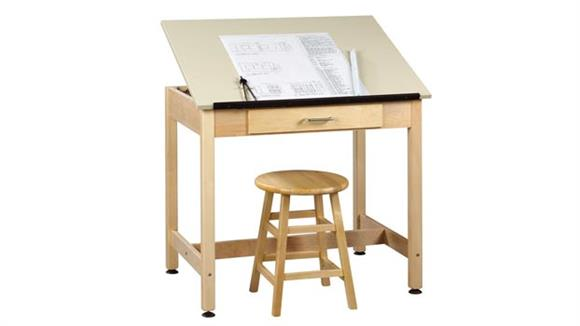 "Drafting Tables Shain Solutions 30""H  Drafting Table with Adjustable Top"