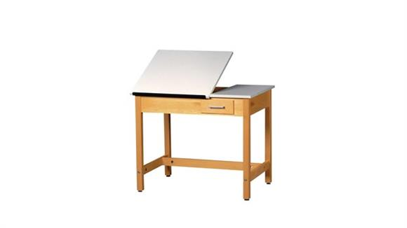 "Drafting Tables Shain Solutions 30""H  Drafting Table with 2 Piece Adjustable Top"