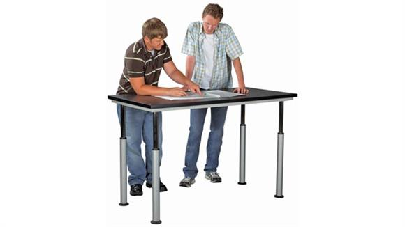 "Activity Tables Shain Solutions 60"" x 42"" Adaptable Table with Laminate Top"