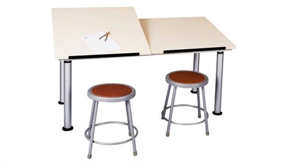 Drafting Tables Shain Solutions Two Station Adaptable Drawing Table