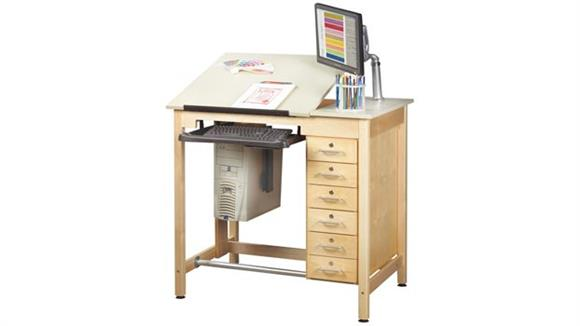 Drafting Tables Shain Solutions Drawing Table with Drawers