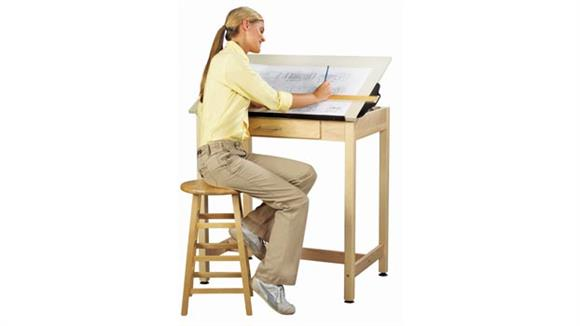 "Drafting Tables Shain Solutions 37""H  Drafting Table with Adjustable Top"