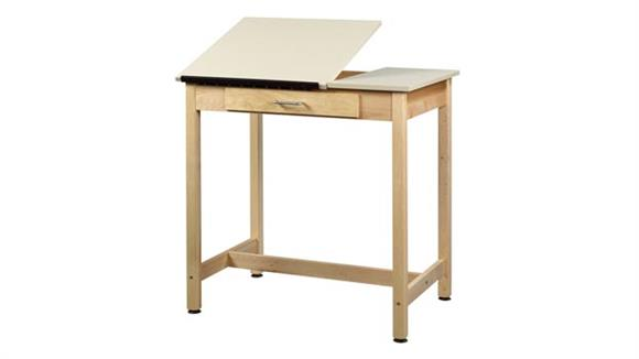 """Drafting Tables Shain Solutions 37""""H  Drafting Table with 2 Piece Adjustable Top"""
