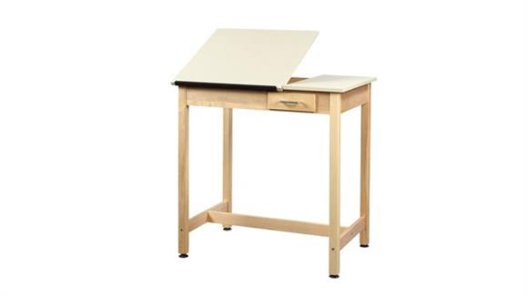 "Drafting Tables Shain Solutions 37""H  Drafting Table with 2 Piece Adjustable Top"
